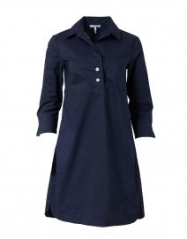 Aileen Navy Stretch Cotton Dress