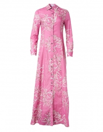 Kathe Watermelon Lily Cotton Viole Shirt Dress