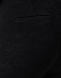 Kobi Halperin - Lori Black Stretch Faux Suede Pull On Pant