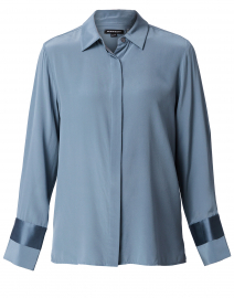 Lake Blue Silk Blouse