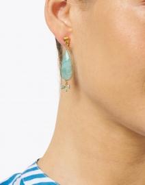 Gas Bijoux - Serti Amazonite Teardrop Earring