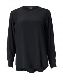 Black Silk Crepe Top