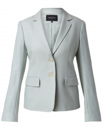 Thatcher Dewdrop Blue Silk and Wool Blazer
