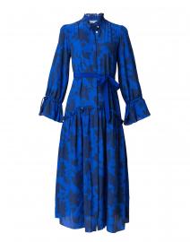 Darsha Sujan Blue Belted Silk Shirt Dress