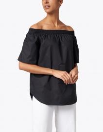 Finley - Sabra Black Off-The-Shoulder Cotton Top