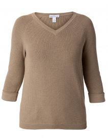 Fawn Beige Cotton Shaker Sweater