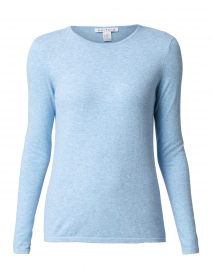 Blue Heather Crew Neck Stretch Cotton Top