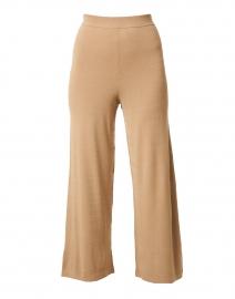 Sovrana Camel Stretch Wide Leg Pant