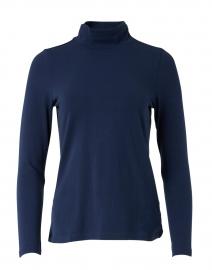 Navy Stretch Pima Cotton Top