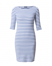 Propriano White and Voyage Blue Striped Dress