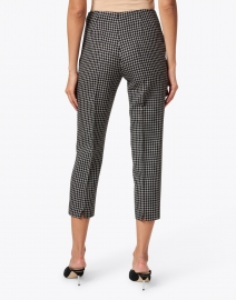 Piazza Sempione - Audrey Black and White Checked Wool Pant