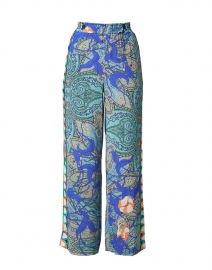 Arlene Blue Paisley Printed Pull-On Pant