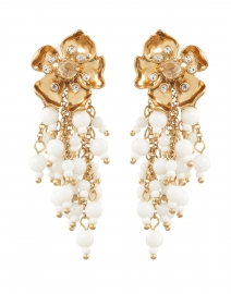 Emilee Gold and Pearl Beaded Drop Earrings