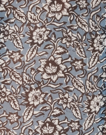 Veronica Beard - Carolina Blue Floral Print Silk Top