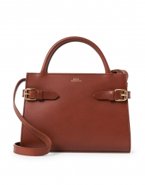 Charlotte Cognac Leather Top Handle Bag