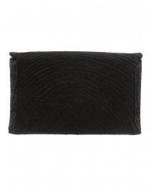 Kayu - Cassia Black Woven Straw Clutch
