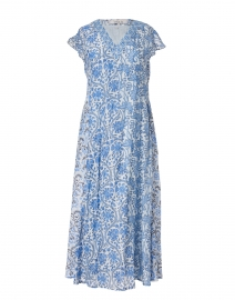 Cora Marine Floral Block Printed Dress