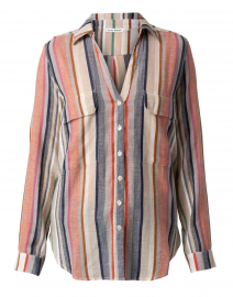 Guy Multi Striped Button Down Shirt