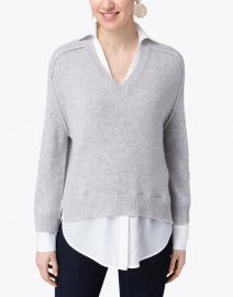 Brochu Walker - Vail Grey Sweater with White Underlayer