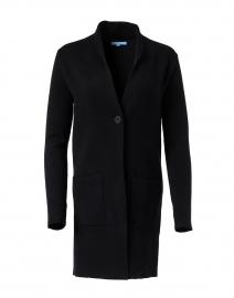 Harper Black Cotton Cashmere Cardigan Coat