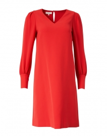 Lenore Red Crepe Dress