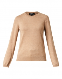 Camel Merino Knit Top