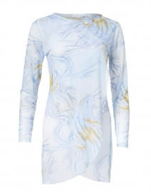 Ala von Auersperg - Diane Light Blue Birds of Paradise Mesh Top