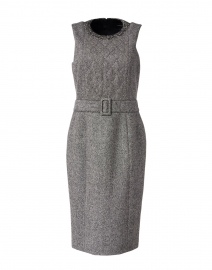 Grey Stretch Wool Sheath Dress