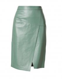 Seloa Light Green Leather Skirt