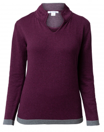 Bordeaux Cotton Sweater