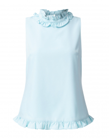 Sky Blue Poly Crepe Top