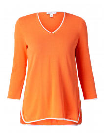 Orange Cotton Tunic Sweater