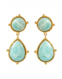 Two Amazonite Stone Drop Earrings