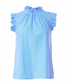 Mylie Blue and White Pinstripe Top