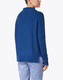 Kinross - Royal Blue Garter Stitch Cotton Sweater