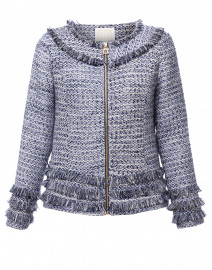 Navy and Cream Tweed  Jacket