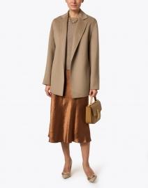 Joseph - Cenda Taupe Double Face Cashmere Coat