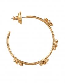 Oscar de la Renta - Gold Flower Hoop Earring