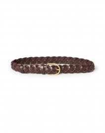 Carson Chocolate Brown Woven Leather Belt