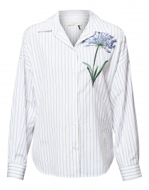 Antony Embroidered Striped Button Down Shirt