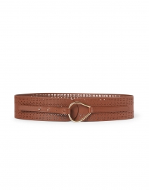 Bolivia Brown Leather Perforated Belt