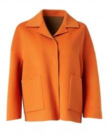 Selva Orange and Camel Reversible Coat