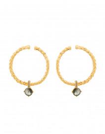Gold Braided Hoop Earrings