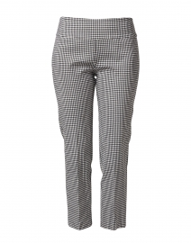 Black and White Gingham Control Stretch Pull-On Pant