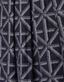 Samantha Sung - Audrey Indigo Four Check Printed Stretch Cotton Dress