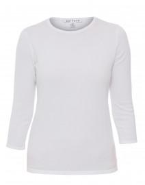 Optic White Crew Neck Cotton Sweater