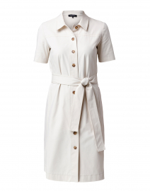 Kylie Ivory Cotton Shirt Dress