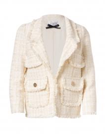 Cream Tweed Jacket with Pockets