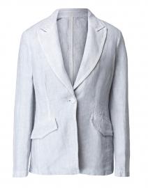 Stone Linen Peak Lapel Jacket