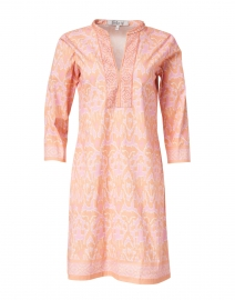 Ikat Melon Printed Stretch Cotton Dress